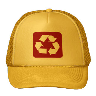 Recycling Sign - Ruby Mesh Hats