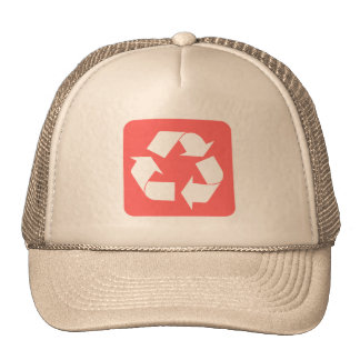 Recycling Sign - Tropical Pink Mesh Hats