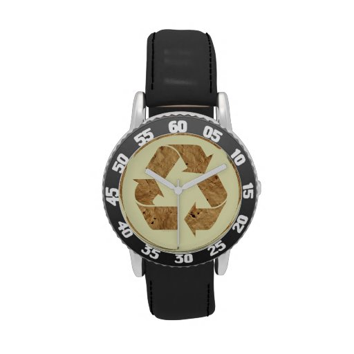 Recycling Sign Wristwatches