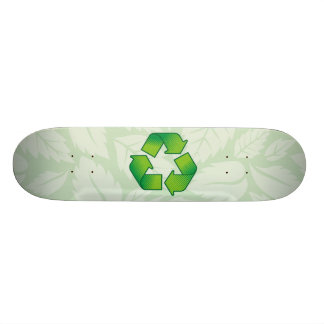 Recycling symbol 18.4 cm mini skateboard deck