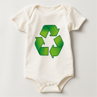 Recycling symbol baby bodysuit