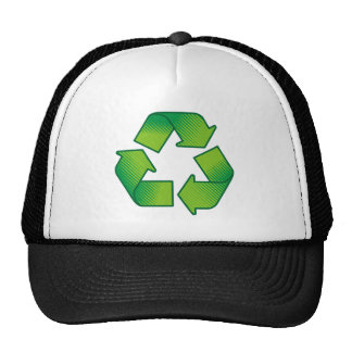 Recycling symbol cap