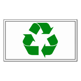 Recycling Symbol - Green Pack Of Standard Business Cards