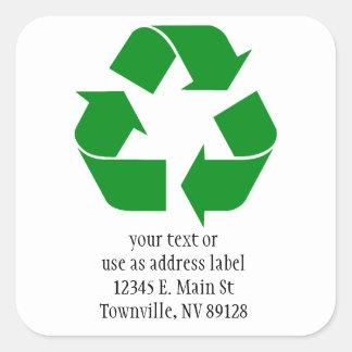 Recycling Symbol - Green Sticker