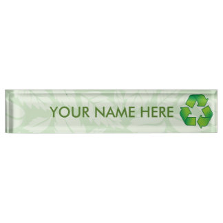 Recycling symbol nameplate