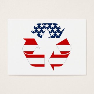Recycling Symbol - Red White & Blue