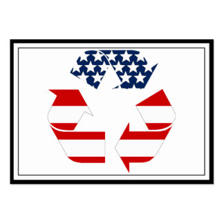 Recycling Symbol - Red White & Blue Pack Of Chubby Business Cards