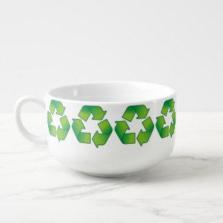 Recycling Symbol Soup Mug