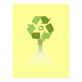 Recycling Tree Post Card