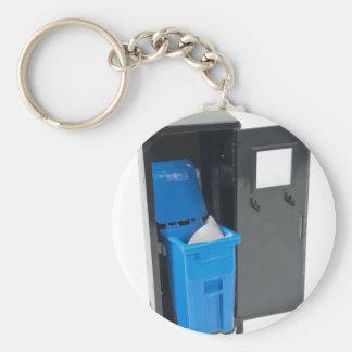 RecyclingSchoolItems122111 Basic Round Button Key Ring