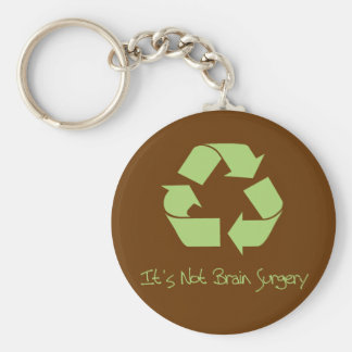 Recyle it's Easy Basic Round Button Key Ring