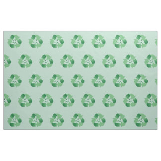 Recyle symbol fabric
