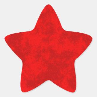 Red2 Soft Grunge Design Star Stickers