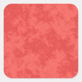 Red3 Soft Grunge Design Square Sticker