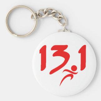 Red 13.1 half-marathon keychains