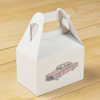 Red 1955 Chrysler 300 Pencil Style Drawing Favour Box