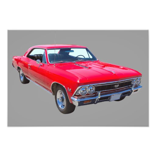 Red 1966 Chevy Chevelle SS 396 Photo Art