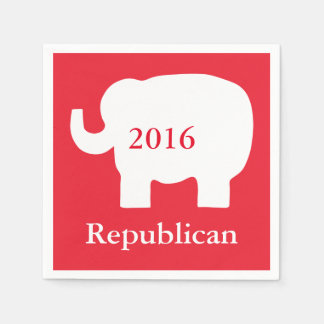 Red 2016 Republican Political Election Event Disposable Serviette