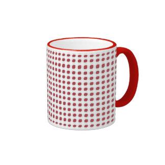 Red 3 Side Boxes Ringer Mug