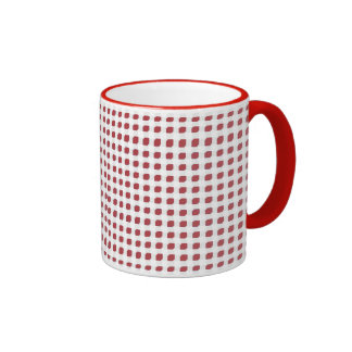 Red 3 Side Boxes Ringer Mug