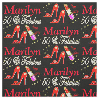 RED 50 & FABULOUS PERSONALIZED FABRIC