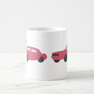 Red '65 Mustang on cup. Basic White Mug