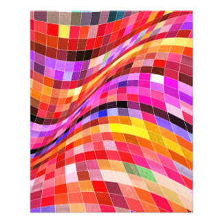 red-69291 ILLUSIONS WAVY SQUARES Red purple diamon Full Color Flyer