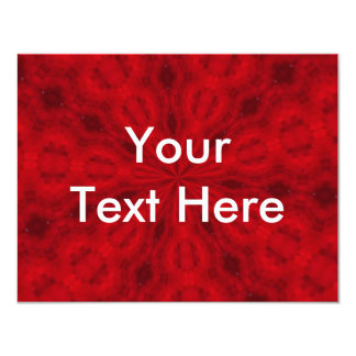 Red Abstract 11 Cm X 14 Cm Invitation Card