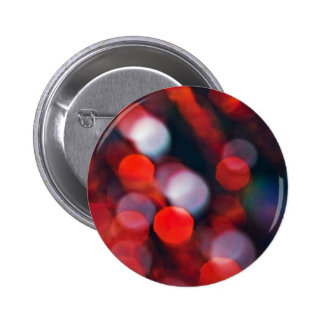 Red Abstract Blur Bubbles 6 Cm Round Badge