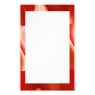 red abstract border stationery