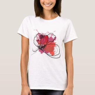 Red Abstract Brush Splash Flower .JPEG T-Shirt