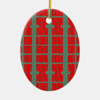 Red Abstract Christmas Ornament