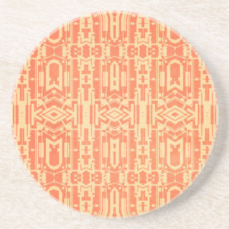 Red abstract drink coasters