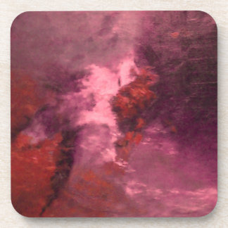"""""""RED ABSTRACT"""" DRINK COASTER"""
