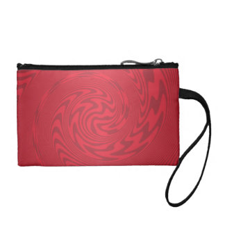 Red Abstract Design Coin Wallets