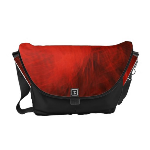 Red Abstract Design Commuter Bags