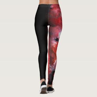Red Abstract for Gymnasts Leggings