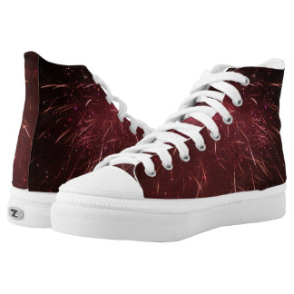 Red Abstract High Tops