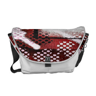 Red Abstract Messenger Bag