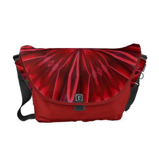 Red Abstract Messenger Bags