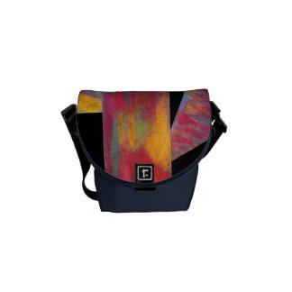 Red Abstract Mini Messenger Bag
