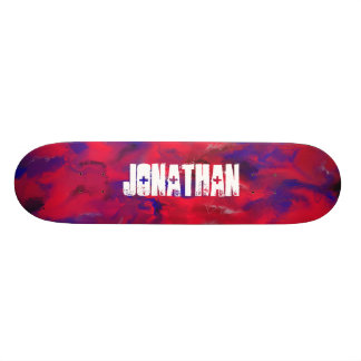 Red Abstract Mix Skate Boards