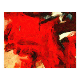 Red Abstract Painting Custom Announcements