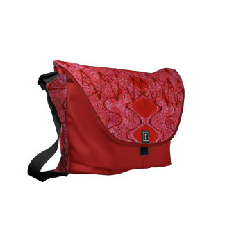 red abstract pattern design courier bags