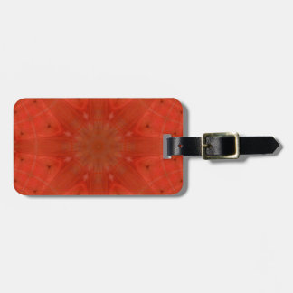 Red abstract pattern wood luggage tag