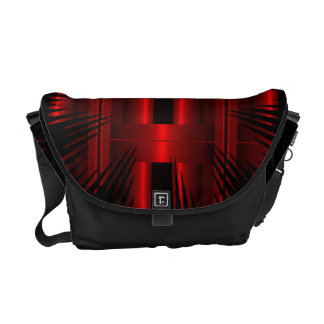 Red Abstract  Rickshaw Messanger Bag red Courier Bags