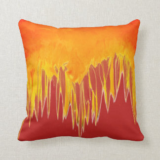 Red Abstract Sunflower Motif Cushion