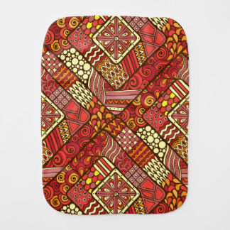 Red abstract tribal aztec pattern burp cloth