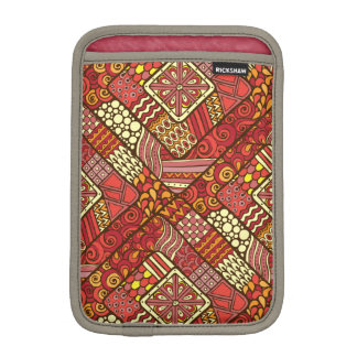 Red abstract tribal aztec pattern iPad mini sleeve