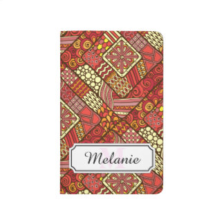 Red abstract tribal aztec pattern journal
